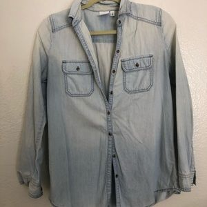 Womens chambray button down